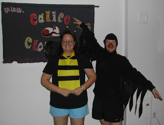 Marsha - bumble bee, Kathy - crow