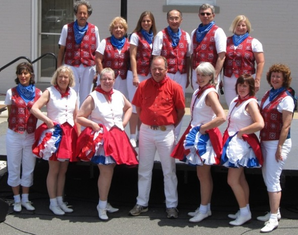 Calico and Bull Run Cloggers at the Manassas Railway Festival