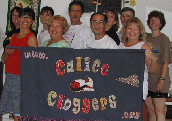 Calico Cloggers at practice